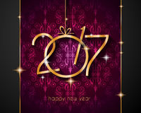 2017 Happy New Year Background for your Flyers. And Greetings Card. Ideal for Poster, covers and invitations royalty free illustration
