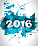 2016 Happy New Year Background for your Flyers Royalty Free Stock Photography