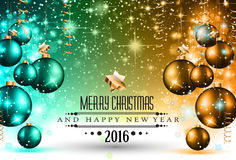 2016 Happy New Year Background for your Flyers. And Greetings Card. Ideal to use for parties invitation, Dinner invitation, Christmas Meeting events and so on Stock Photography