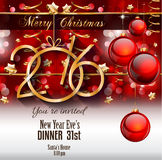 2016 Happy New Year Background for your Flyers Royalty Free Stock Photo