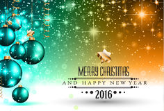 2016 Happy New Year Background for your Flyers Stock Images