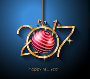 2017 Happy New Year Background for your Flyers. And Greetings Card. Ideal to use for parties invitation, Dinner invitation, Christmas Meeting events and so on royalty free illustration