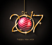 2017 Happy New Year Background for your Flyers. And Greetings Card. Ideal to use for parties invitation, Dinner invitation, Christmas Meeting events and so on vector illustration