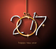 2017 Happy New Year Background for your Flyers and Greetings Card. Ideal to use for parties invitation, Dinner invitation, Christmas Meeting events and so on Royalty Free Stock Photo