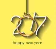 2017 Happy New Year Background for your Flyers and Greetings Card. Ideal to use for parties invitation, Dinner invitation, Christmas Meeting events and so on stock illustration