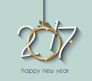 2017 Happy New Year Background for your Flyers and Greetings Card. Ideal to use for parties invitation, Dinner invitation, Christmas Meeting events and so on vector illustration