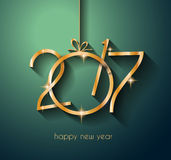 2017 Happy New Year Background for your Flyers and Greetings Card Royalty Free Stock Image