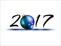 2017 Happy New Year Background for your Flyers and Greetings Card. Ideal to use for parties invitation, Dinner invitation, Christmas Meeting events and so on royalty free illustration