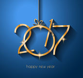 2017 Happy New Year Background for your Flyers and Greetings Card. Ideal to use for parties invitation, Dinner invitation, Christmas Meeting events and so on Stock Photos