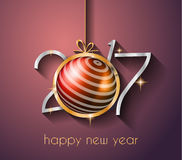 2017 Happy New Year Background for your Flyers and Greetings Card. Ideal to use for parties invitation, Dinner invitation, Christmas Meeting events and so on Royalty Free Stock Images