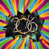 2016 Happy New Year Background for your Greetings Card. Stock Photos