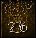 2016 Happy New Year Background for your Greetings Card. Stock Image