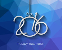 2016 Happy New Year Background for your Greetings Card. Royalty Free Stock Photography
