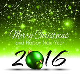 2016 Happy New Year Background for your Greetings Card. Stock Photo