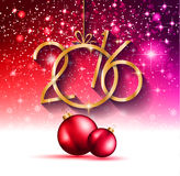 2016 Happy New Year Background for your Greetings Card. Royalty Free Stock Photo
