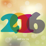 2016 Happy New Year background for your greetings card Stock Image
