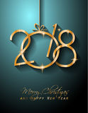 2018 Happy New Year Background for your Greetings Card. 2018 Happy New Year Background for your Seasonal Flyers and Greetings Card or Christmas themed Royalty Free Stock Photography