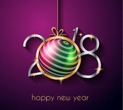 2018 Happy New Year Background for your Greetings Card. 2018 Happy New Year Background for your Seasonal Flyers and Greetings Card or Christmas themed Stock Image