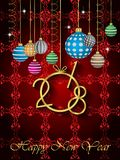 2018 Happy New Year background. 2018 Happy New Year background for your invitations, festive posters, greetings cards Stock Image