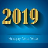 2019 Happy New Year background. Royalty Free Stock Photo