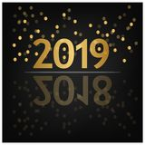 2019 Happy New Year Background for your Seasonal Flyers, banner, sticker, and Greetings Card. 2018 to 2019. EPS file available. see more images related vector illustration