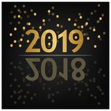 2019 Happy New Year Background for your Seasonal Flyers, banner, sticker, and Greetings Card. 2018 to 2019. EPS file available. see more images related royalty free illustration