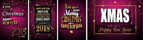2018 Happy New Year Background for your Seasonal Flyers and Gree. Tings Card or Christmas themed invitations Stock Photo