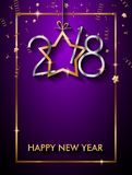 2018 Happy New Year Background for your Seasonal Flyers and Gree. Tings Card or Christmas themed invitations Stock Photography