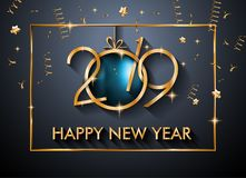 2019 Happy New Year Background for your Seasonal Flyers and Greetings Card or Christmas. Themed invitations vector illustration