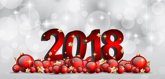 2018 Happy New Year Background for your Seasonal Flyers and Gree. Tings Card or Christmas themed invitations Stock Image