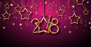 2018 Happy New Year Background for your Seasonal Flyers and Gree. Tings Card or Christmas themed invitations Royalty Free Stock Photos