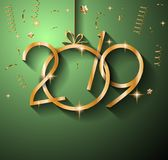 2019 Happy New Year Background for your Seasonal Flyers and Gree. Tings Card or Christmas themed invitations stock illustration