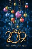 2019 Happy New Year Background for your Seasonal Flyers and Gree stock illustration