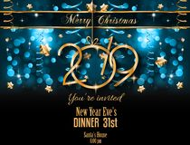 2019 Happy New Year Background for your Seasonal Flyers and Gree vector illustration