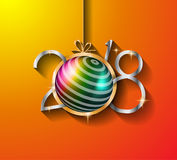2018 Happy New Year Background for your Seasonal Flyers and Gree Stock Photo