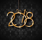 2018 Happy New Year Background for your Seasonal Flyers and Gree Stock Image