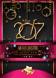 2017 Happy New Year Background for your Seasonal Flyers. And Greetings Card Stock Image