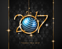 2017 Happy New Year Background for your Seasonal Flyers. And Greetings Card Stock Photos