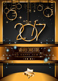 2017 Happy New Year Background for your Seasonal Flyers Stock Photography