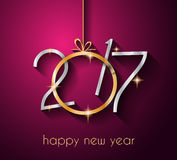 2017 Happy New Year Background for your Seasonal Flyers. And Greetings Card Royalty Free Stock Photos