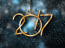 2017 Happy New Year Background for your Seasonal Flyers. And Greetings Card stock illustration