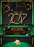 2017 Happy New Year Background for your Seasonal Flyers. And Greetings Card Stock Photography