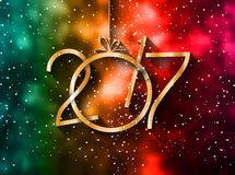2017 Happy New Year Background for your Seasonal Flyers. And Greetings Card or Christmas themed invitations Stock Photo
