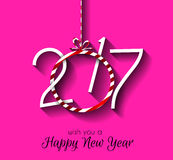 2017 Happy New Year Background for your Seasonal Flyers Stock Photo