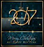 2017 Happy New Year Background for your Seasonal Flyers. And Greetings Card or Christmas themed invitations vector illustration
