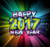 2017 Happy New Year Background for your Seasonal Flyers. And Greetings Card or Christmas themed invitations Stock Photos