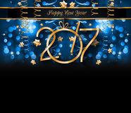 2017 Happy New Year Background for your Seasonal Flyers. And Greetings Card or Christmas themed invitations Stock Images