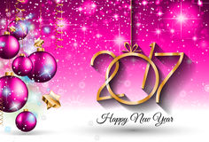2017 Happy New Year Background for your Seasonal Flyers. And Greetings Card or Christmas themed invitations royalty free illustration