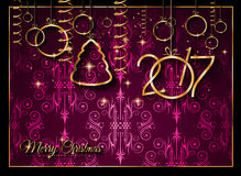 2017 Happy New Year Background for your Seasonal Flyers. And Greetings Card or Christmas themed invitations stock illustration
