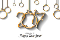 2017 Happy New Year Background for your Seasonal Flyers Royalty Free Stock Photography